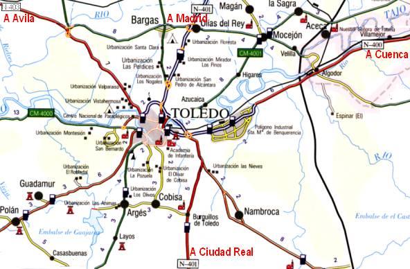 Toledo Spain Maps